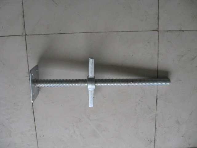 "24"" Solid Scaffolding Levelling Jack with Base Plate O. D. 35mm"