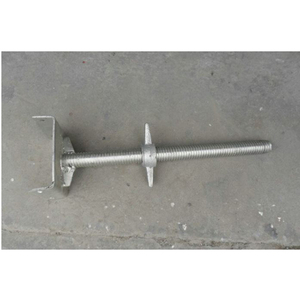 Mason Frame Scaffolding Part-Adjustable Jack Bace with U Head