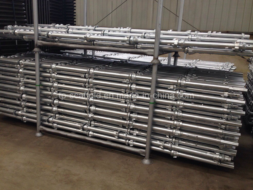 Hot DIP Galvanized Durable Safe Cuplock Scaffolding System Standard/Vertical
