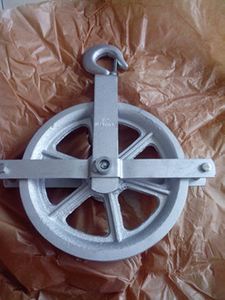 Hoist Pulley Wheel for Scaffolding with Electro Galvanized Surface
