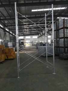 Shoring Frame Scaffolding with Fast Lock