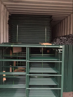 Green Powder Coated Scaffolding Frame Manufacured From Chinese Factory