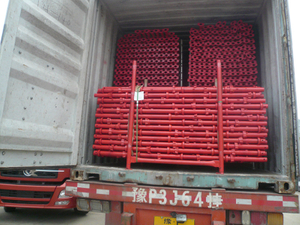 Red Painted Cuplock Scaffold From China Factory